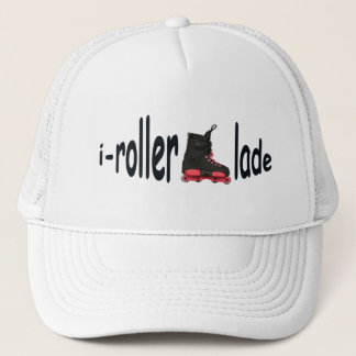 i-rollerblade Men's White Trucker Hat