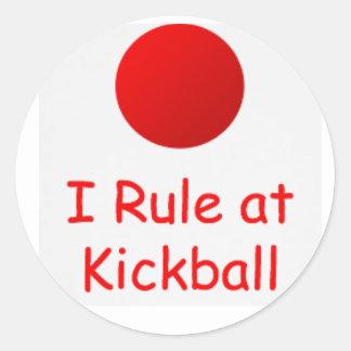 i rule at kickball sticker