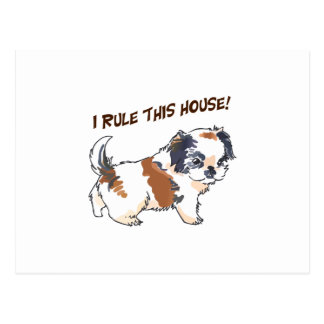 I RULE THIS HOUSE POSTCARD