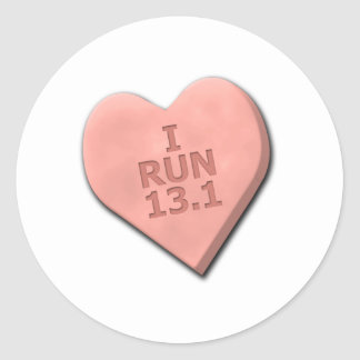 I Run 13.1 Classic Round Sticker