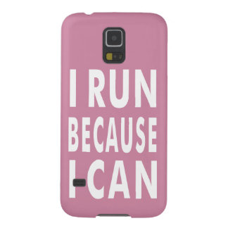 I Run Because I Can Pink Samsung Galaxy S5 Case