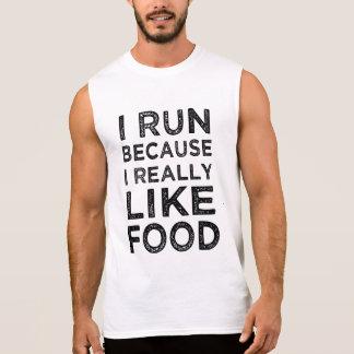 I run because I really like food funny tank top