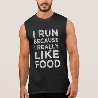 I run because I really like food funny tank top
