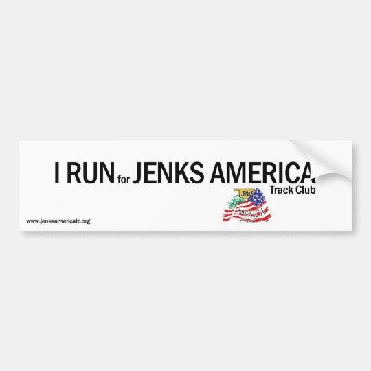 I RUN Bumper Sticker