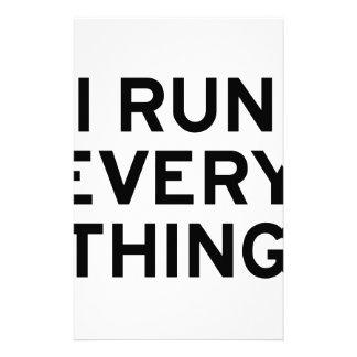 I Run Every Thing Stationery