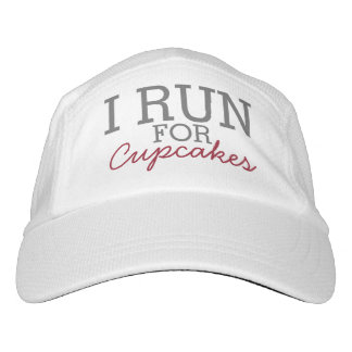 I Run For Cupcakes Funny Customizable Running Hat