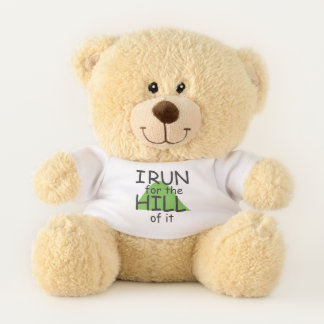 I Run for the Hill of it © - Funny Runner Themed Teddy Bear