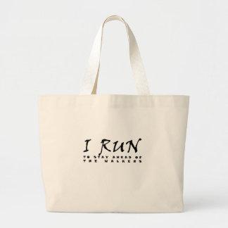 I run large tote bag