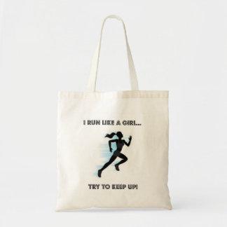 I Run Like A Girl Budget Tote