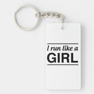 I Run Like A Girl Keychain