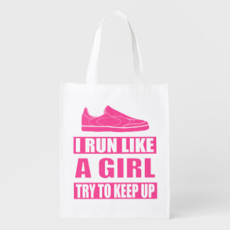 I Run Like a Girl Reusable Grocery Bag