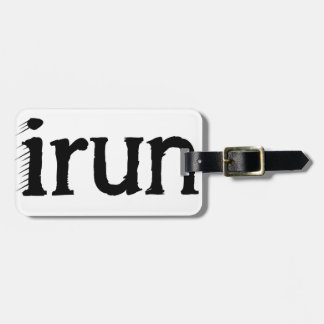 I run luggage tag