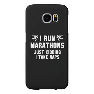 I Run Marathons Samsung Galaxy S6 Cases