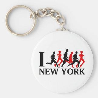 I RUN NEW YORK BASIC ROUND BUTTON KEYCHAIN
