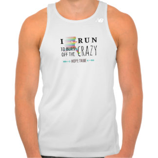 I Run to Burn off the Crazy - Athletic Tank