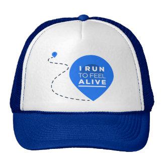 I Run To Feel ALIVE - Running Inspiration Trucker Hat