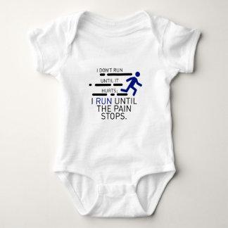 I Run Until The Pain Stops Baby Bodysuit