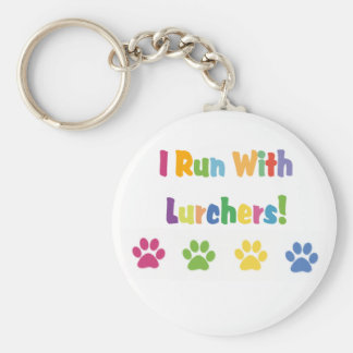 I Run With Lurchers! Keychain