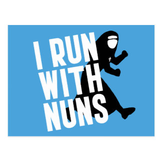 I Run with Nuns Postcard