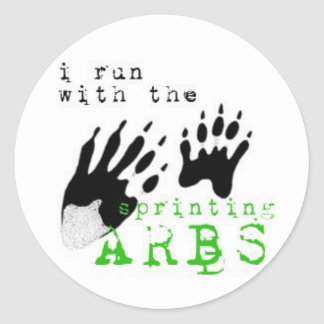 I run with the SPRINTING ARBS Classic Round Sticker