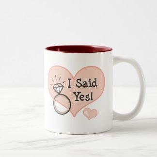 I Said Yes Engagement Mug
