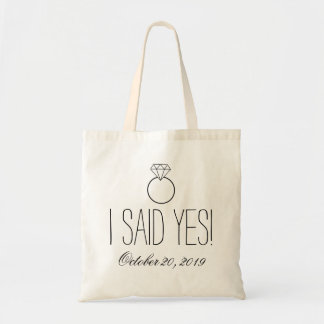 I Said Yes! Ring Personalized Tote Bag