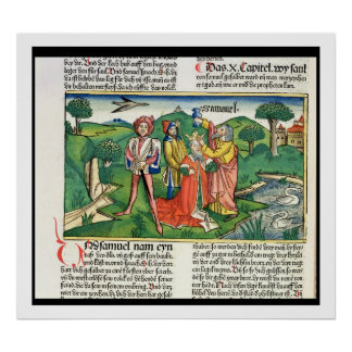 I Samuel 10 The coronation and annointing of Saul, Poster