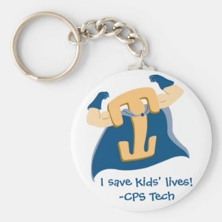 I save kids' lives!-CPS Tech Basic Round Button Keychain