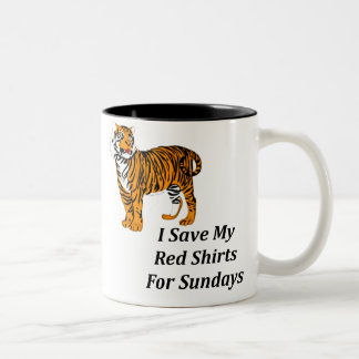 I Save My Red Shirts For Sundays Two-Tone Coffee Mug