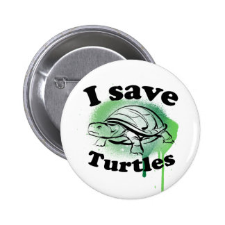 I save Turtles 2 Inch Round Button