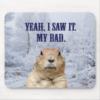 I Saw It Groundhog Day Mouse Pad