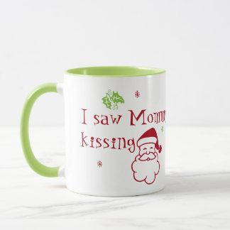 I Saw Mommy Kissing Santa Claus Mug