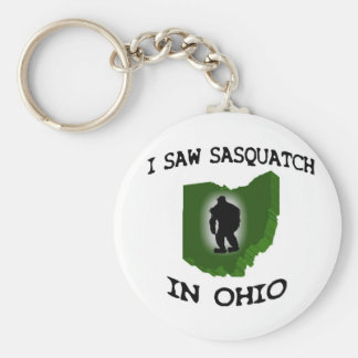 I Saw Sasquatch In Ohio Basic Round Button Keychain