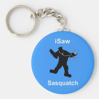 i Saw Sasquatch Music Basic Round Button Keychain