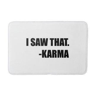 I Saw That Karma Bath Mat