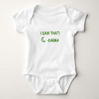 I Saw That Karma funny present Baby Bodysuit