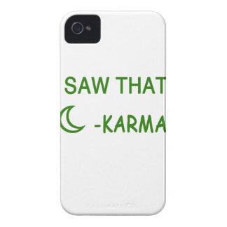 I Saw That Karma funny present iPhone 4 Case-Mate Case