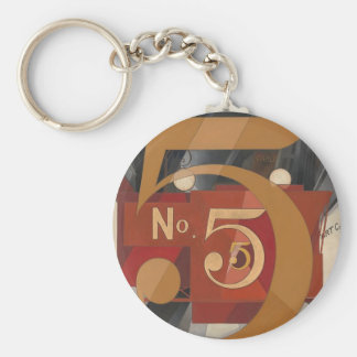 I Saw the Figure 5 in Gold Basic Round Button Keychain