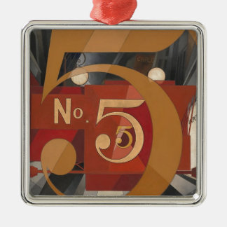 I Saw the Figure 5 in Gold Metal Ornament