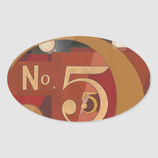 I Saw the Figure 5 in Gold Oval Sticker