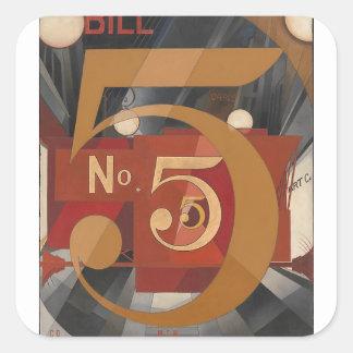 I Saw the Figure 5 in Gold Square Sticker