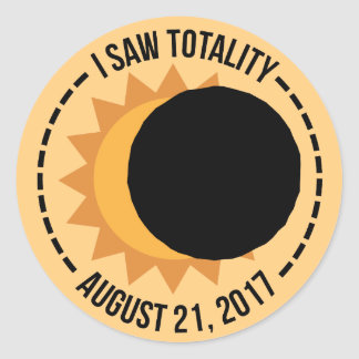 I Saw Totality Solar Eclipse 2017 Stickers