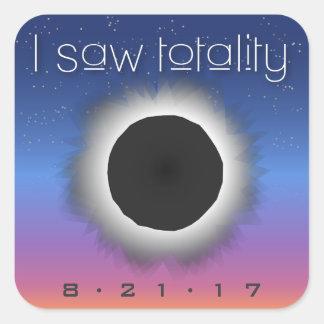 I Saw Totality Solar Eclipse Custom Date Stickers