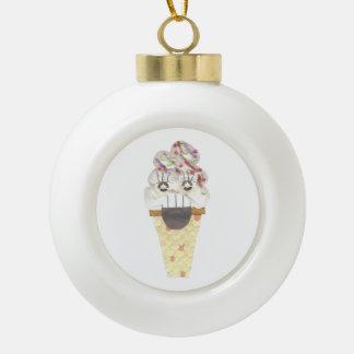 I Scream Bauble Ceramic Ball Christmas Ornament
