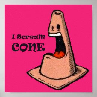 I Scream Cone Poster