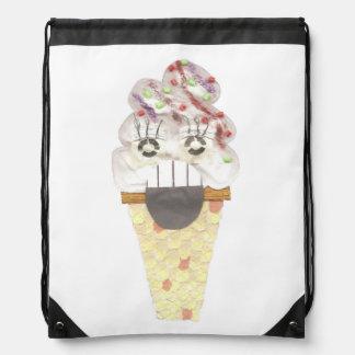 I Scream Drawstring Bag