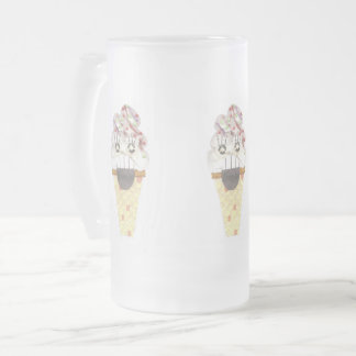 I Scream Frosted Jug Frosted Glass Beer Mug