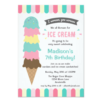 I Scream Party Card