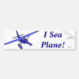 I Sea Plane!  Bumper Sticker (Blue)