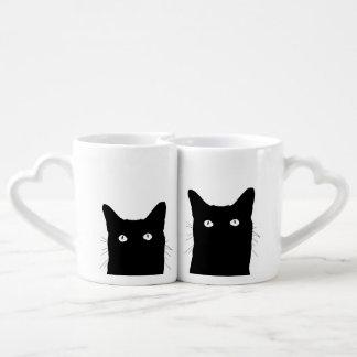 I See Cat Click to Select a Custom Color Coffee Mug Set